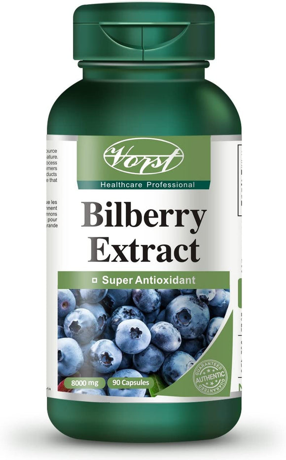 Bilberry Extract 8000mg | 90 Capsules