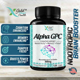 Alpha GPC Choline Supplement | 120 Veggie Capsules (300mg)