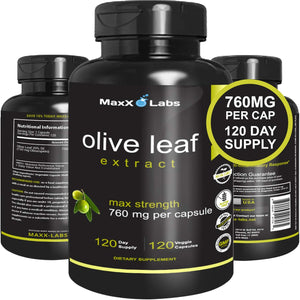Best Olive Leaf Extract | 120 Capsules (750mg)
