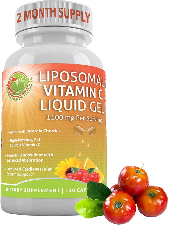 LIPOSOMAL Vitamin C Liquid Gel | 120 DRcaps (1000 mg)
