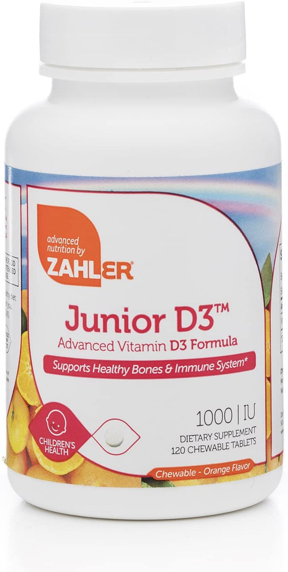Zahler Junior D3 Chewable | 120 Chewable Tablets (1000 IU)