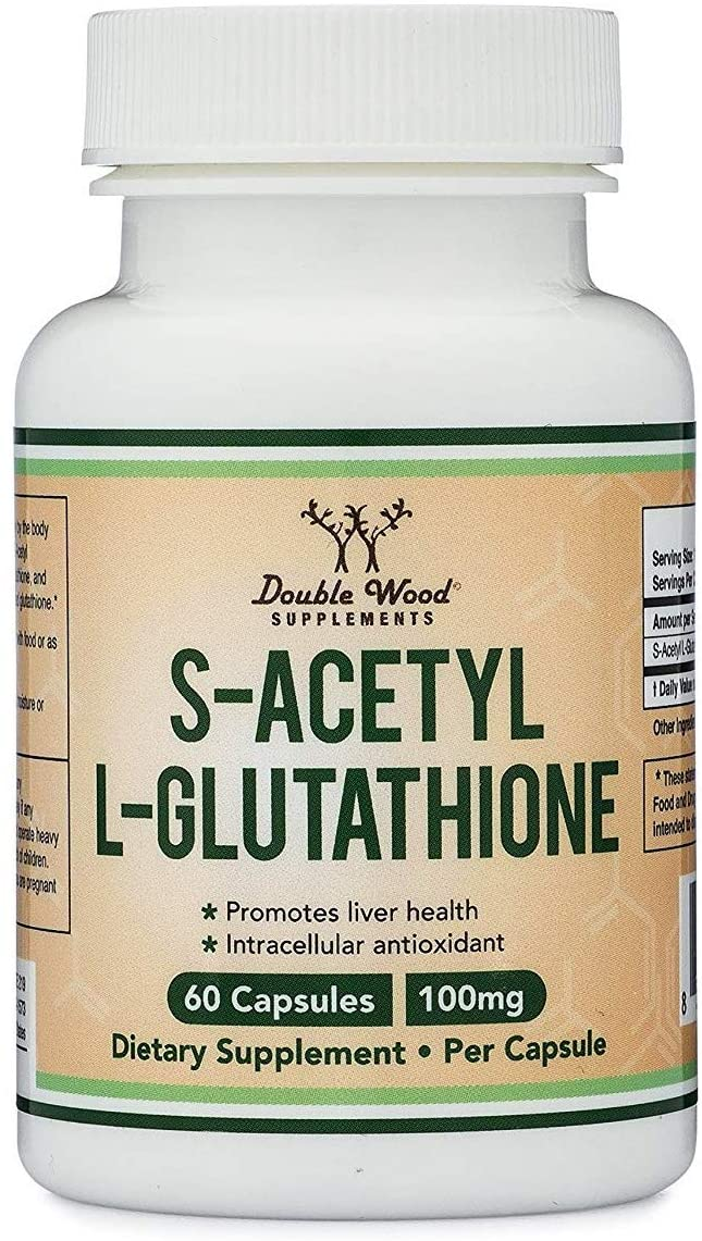 S-Acetyl L-Glutathione 100 mg 60 Capsules | Acetylated Glutathione