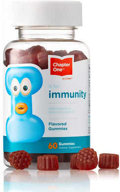 Immune System Gummies - Cahpter One, Elderberry, Zinc and Vitamin C, Certified Kosher, 60 Flavored Gummies
