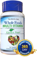 Load image into Gallery viewer, Vegan Whole Foods Multivitamin with Probiotics and Digestive Enzymes for Women, Men, Teens - 90 Dietary Supplement Tablets with Daily Nutrition Essentials, Vitamins, and Minerals - Earth's Pearl