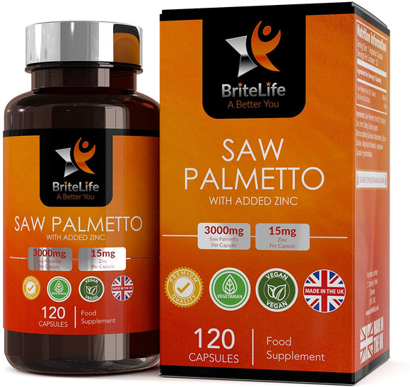BL Saw Palmetto | 120 Vegan Tablets - 4 Month Supply