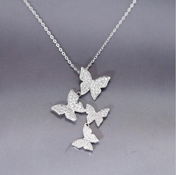 Angelic Sparkly Butterfly Pendant