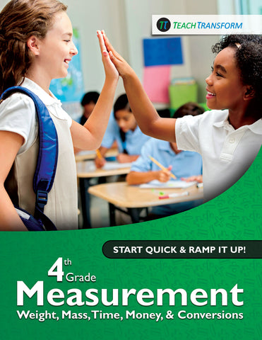 4th Grade Measurement: Weight, Mass, Time, Money, & Conversions