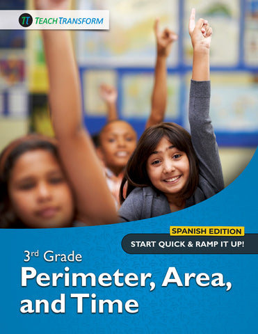3rd Grade Perimeter Area Time (Spanish)