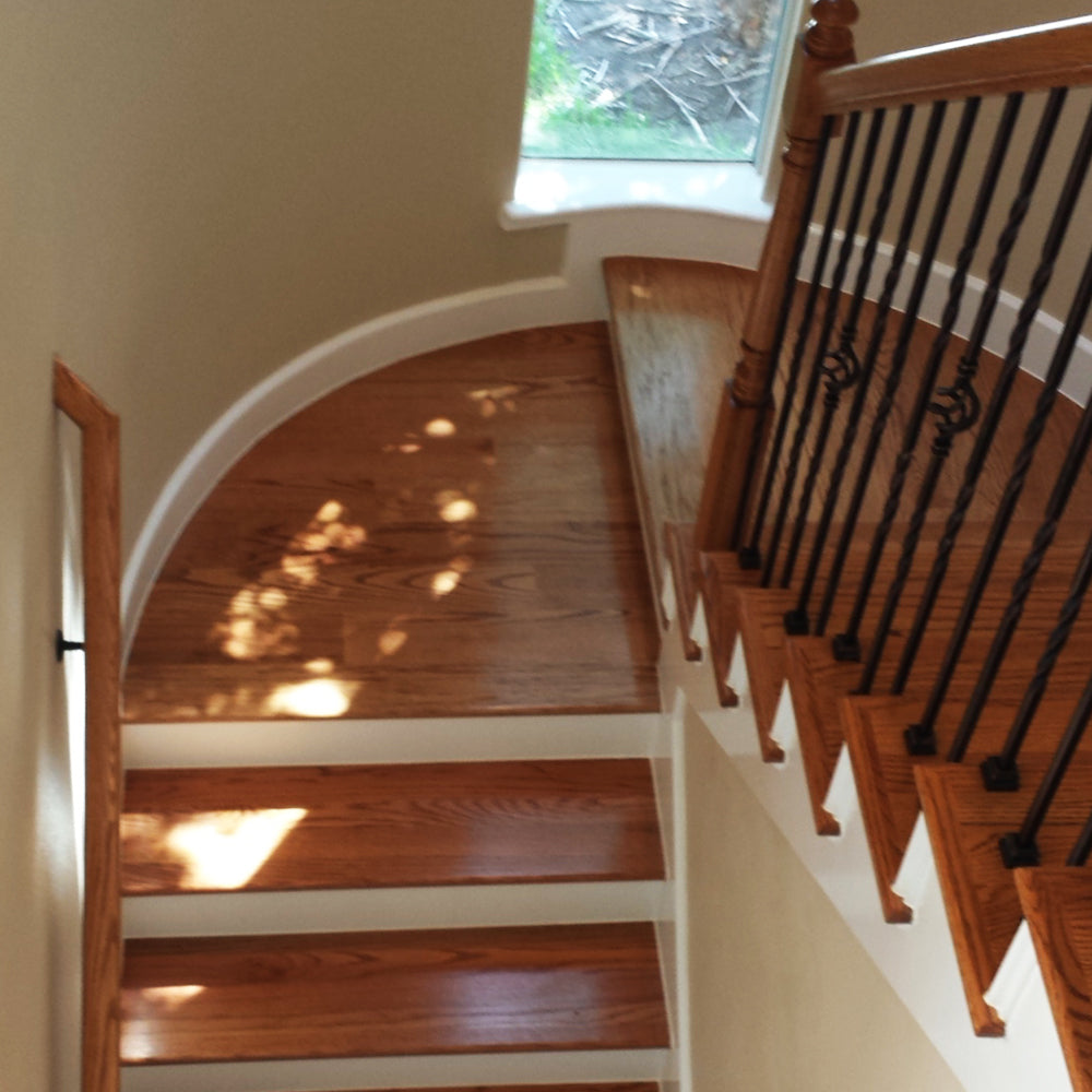 Stair Landing Hardwood Floor