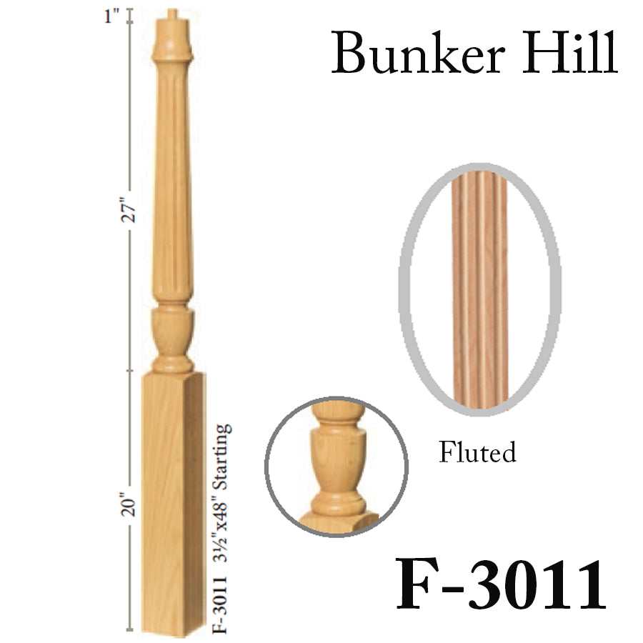 Cheap Fluted Newel Post