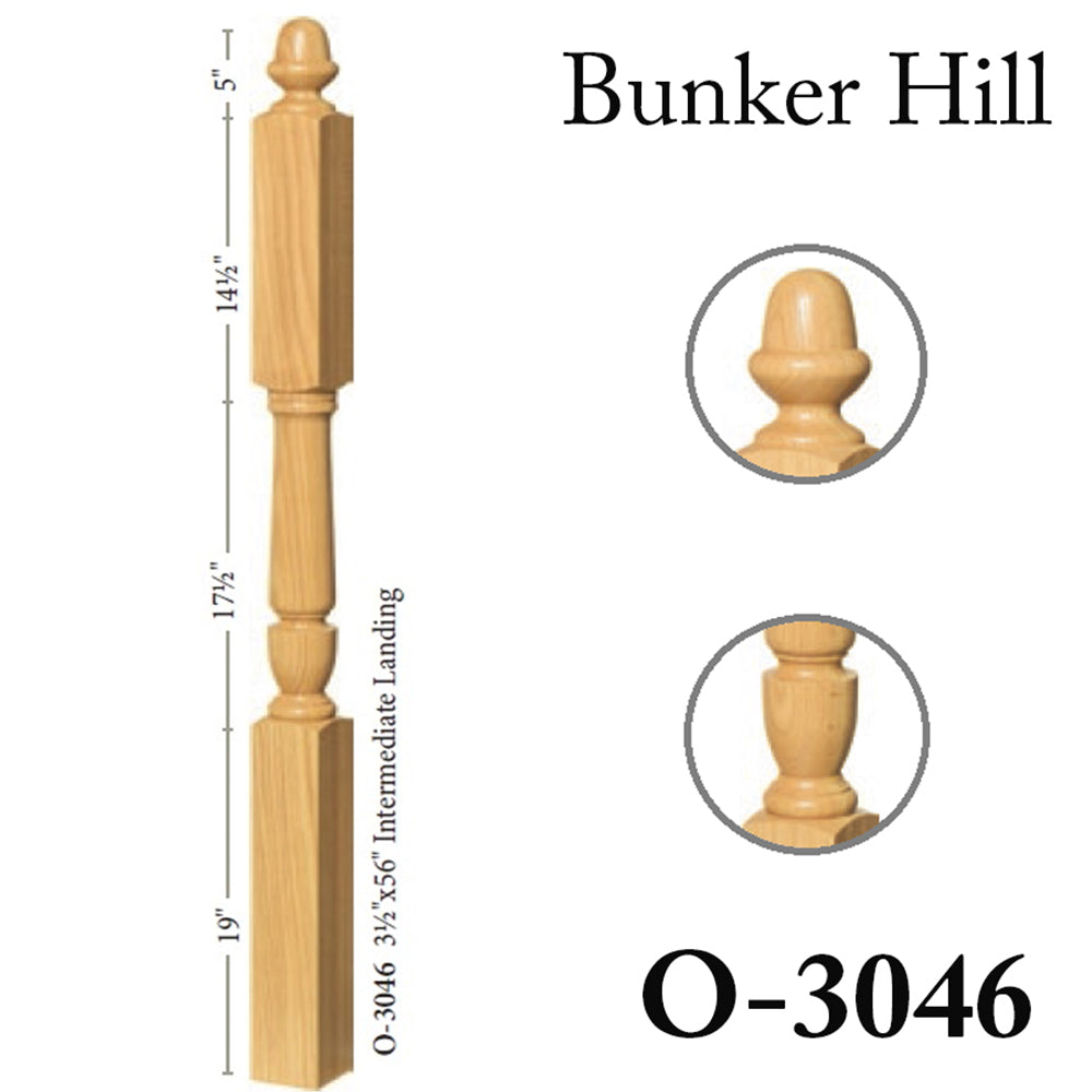 Cheap 3046 Stair Wood Newel Post