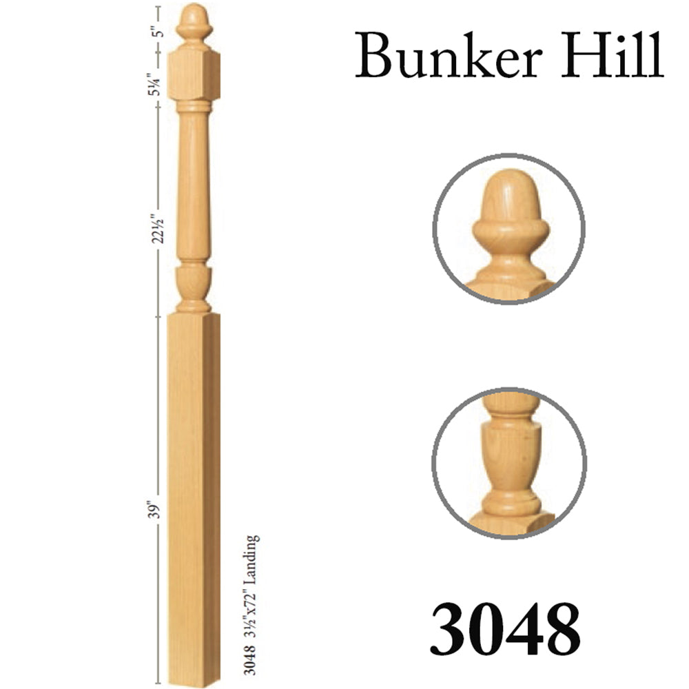 3048 Cheap Stair Wood Newel Post