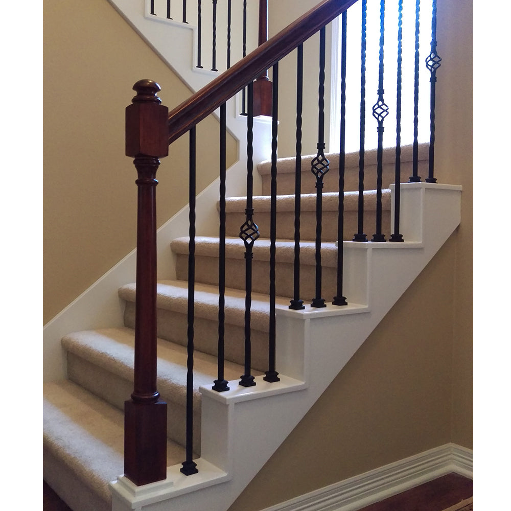 Wood Stair Newel Post
