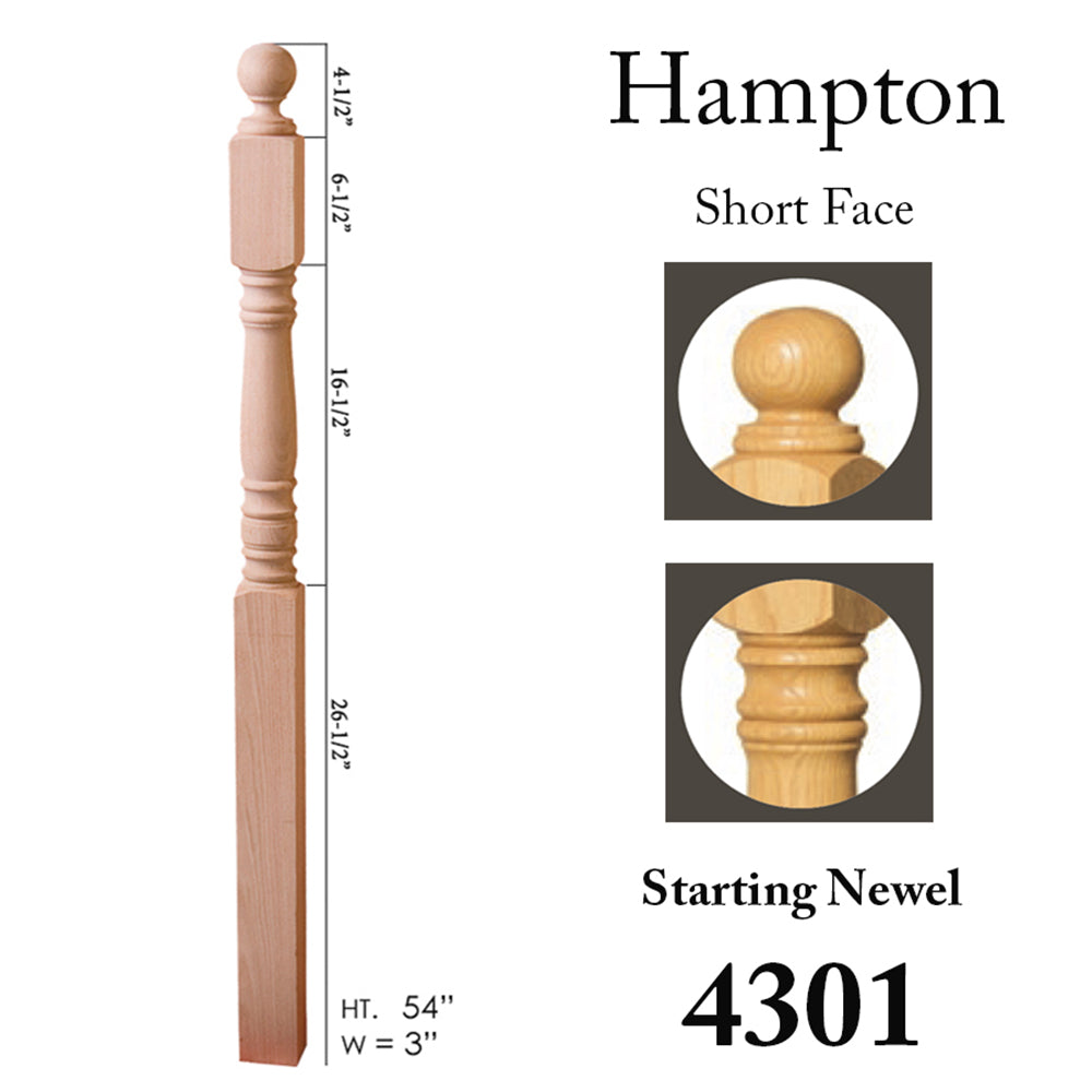 4301 Stair Wood Newel Post