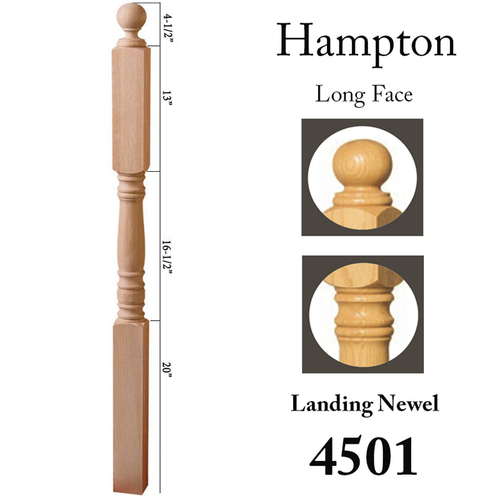 4305 Stair Wood Newel Post
