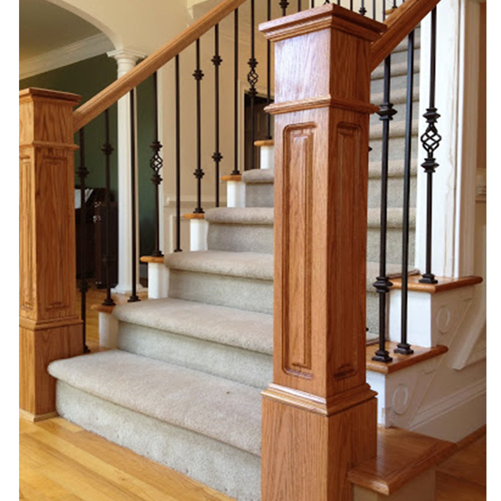 Stair Wood Box Newel Post
