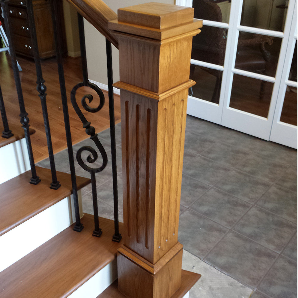 Fluted Stair Box Newel Post