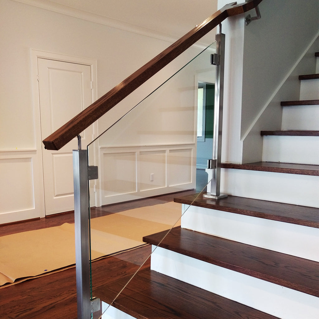 Rectangular Stair Wood Handrail