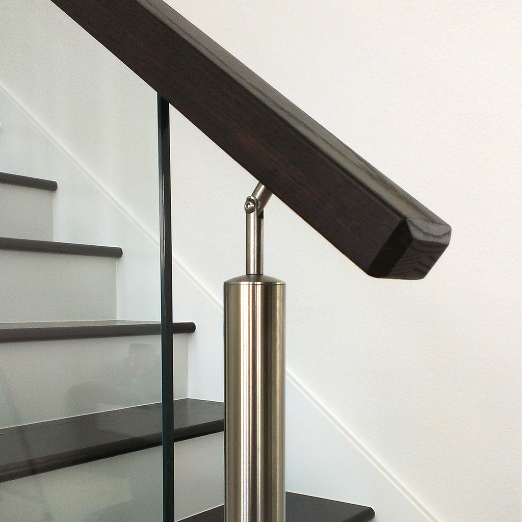 6002 Modern Rectangular Wood Handrail
