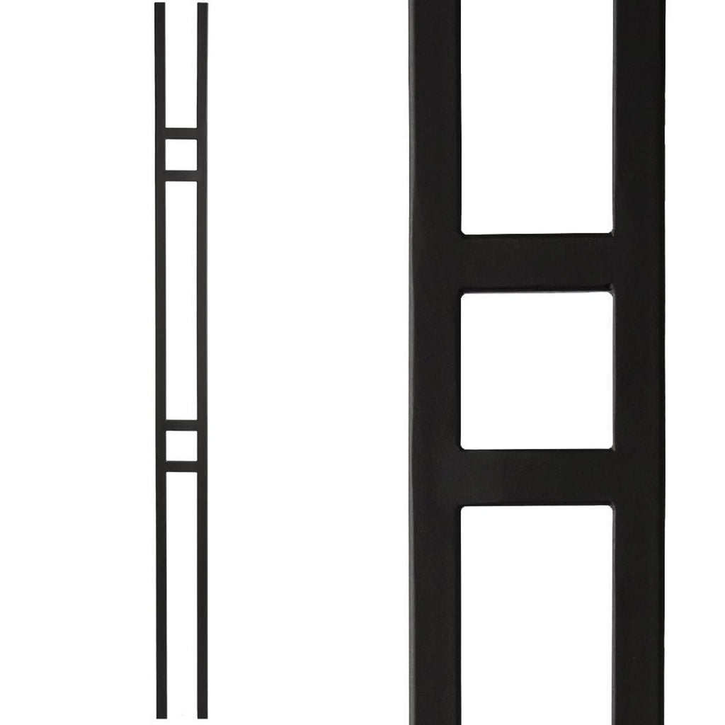 Affordable Double Bar Panel Wrought Iron Baluster 16.6.1