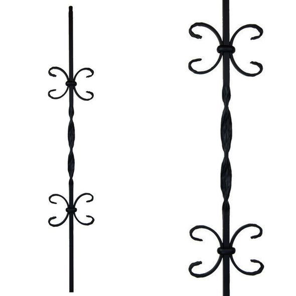 Affordable Double Butterfly Wrought Iron Baluster