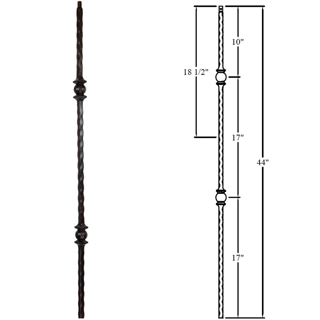 Double Forged Ball Iron Baluster