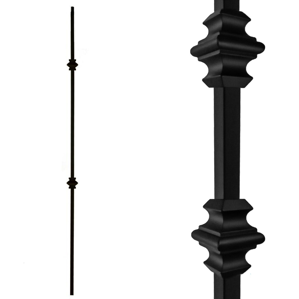 "1/2"" Double Knuckle Wrought Iron Baluster"
