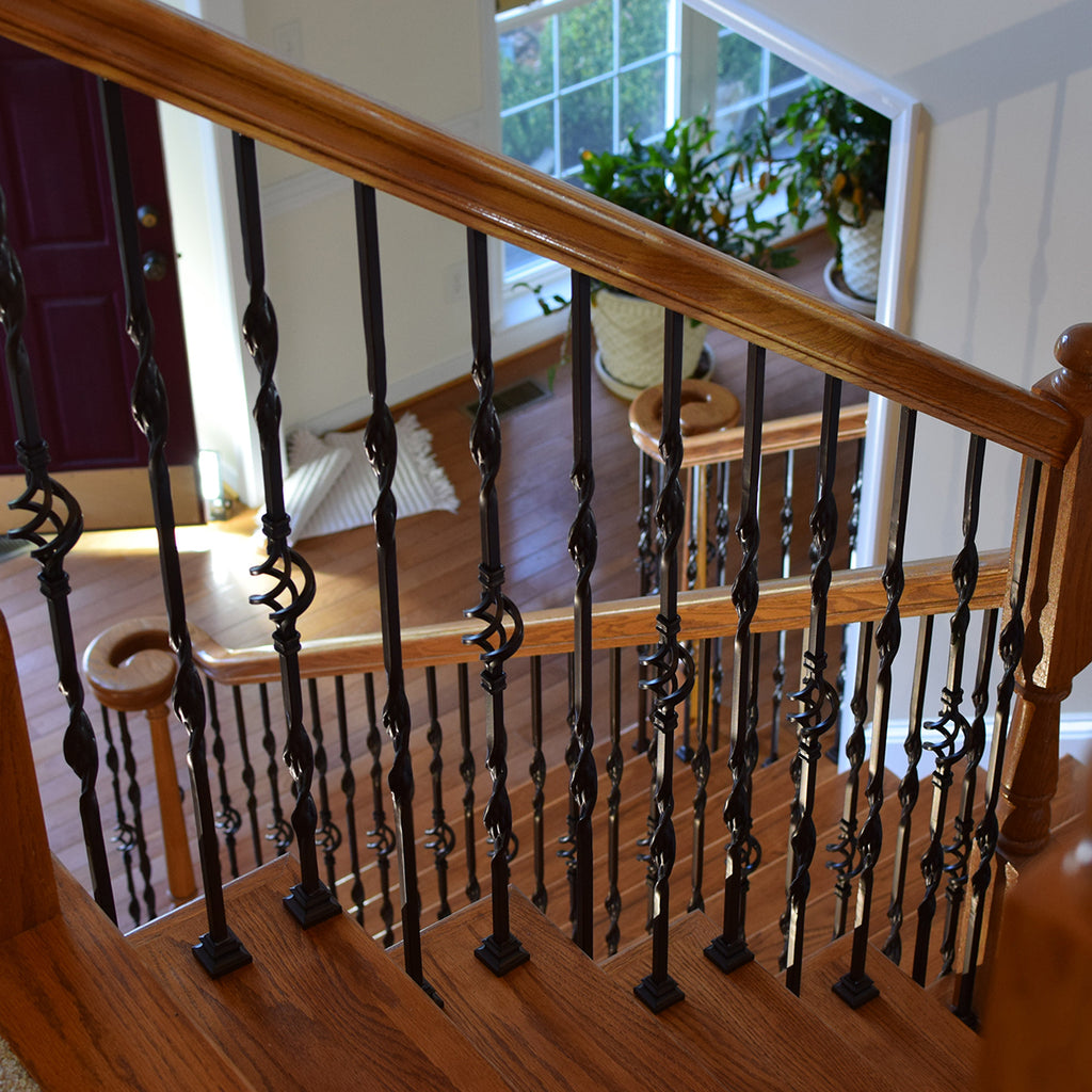 Cheap Single Basket & Two Ribbons Iron Baluster