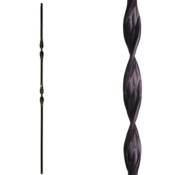 Double Ribbon Wrought Iron Baluster