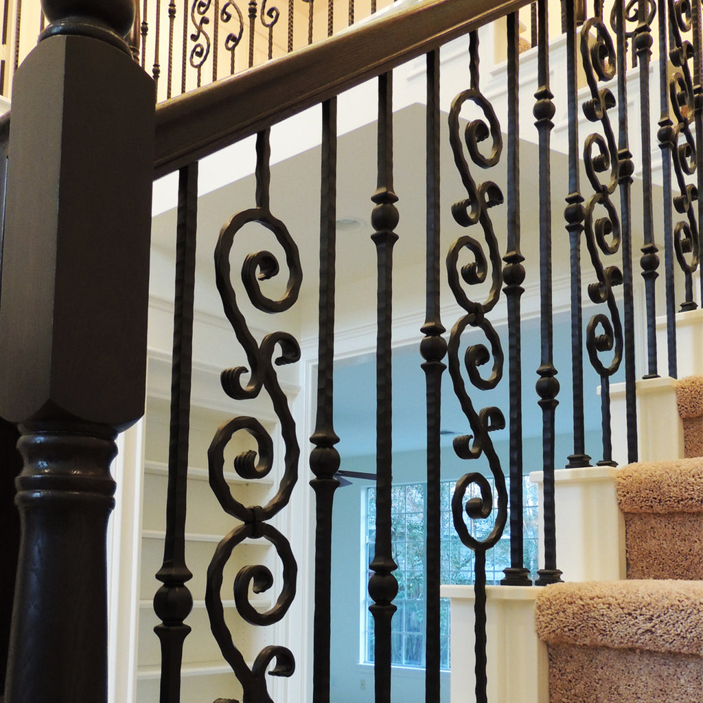 Affordable Double Forged Ball Hammered Iron Baluster