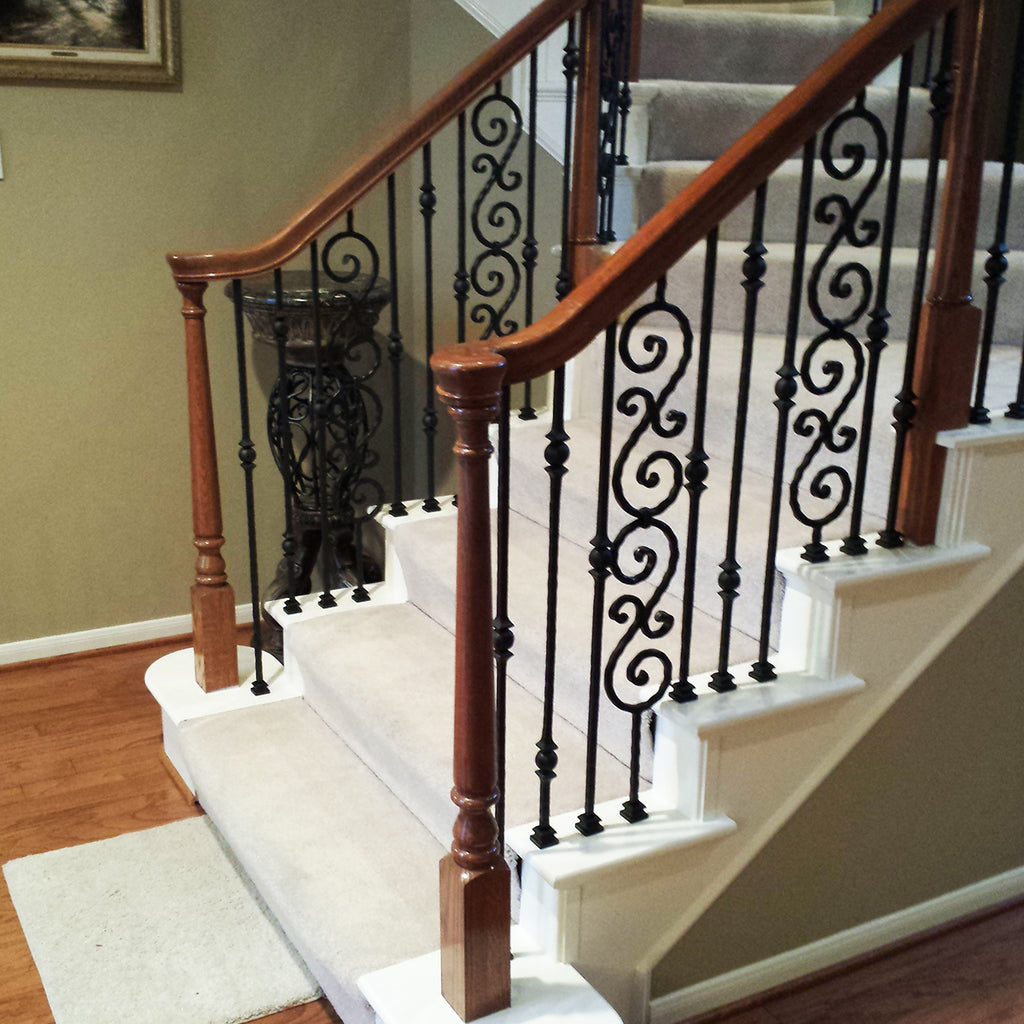 Affordable Scroll Wrought Iron Baluster