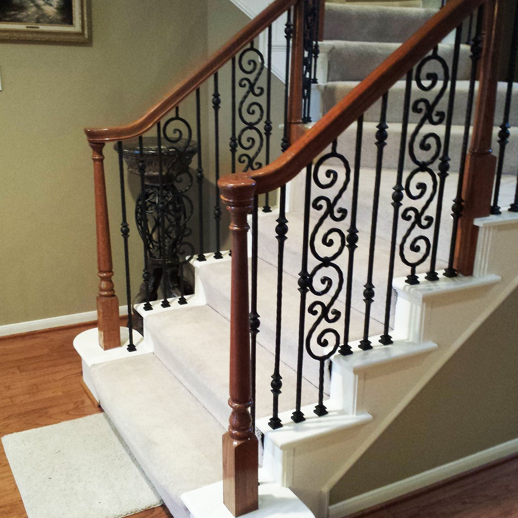 Stair Railing Iron Balusters Tuscan