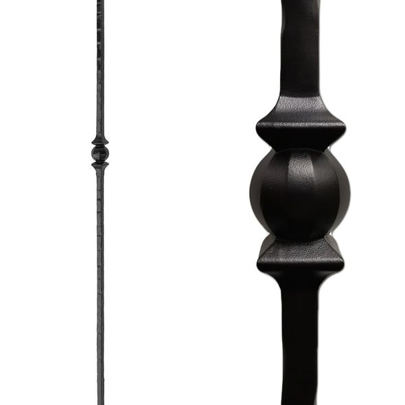 Forged Ball Wrought Iron Newel Post 1.1.15