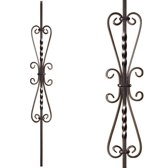 Heart Scroll Iron Baluster