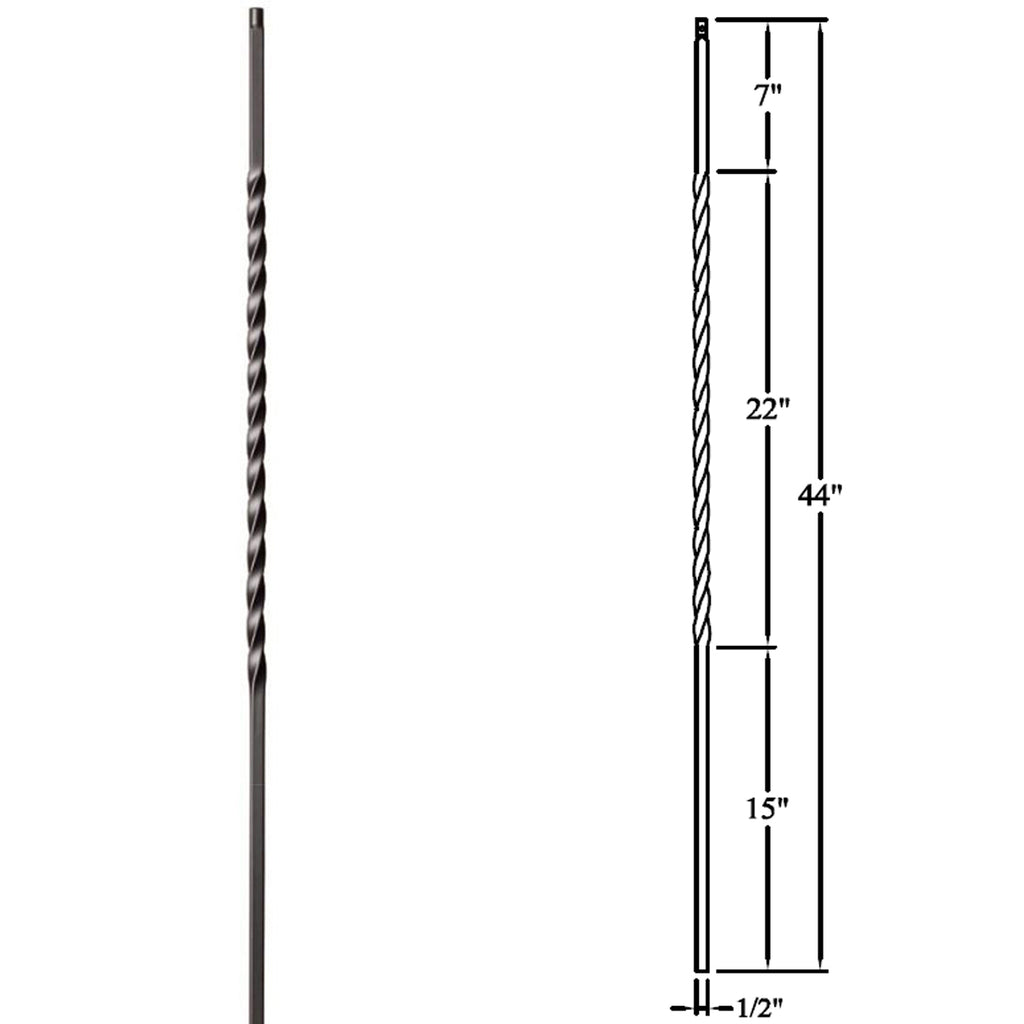 Cheap Long Twist Wrought Iron Baluster