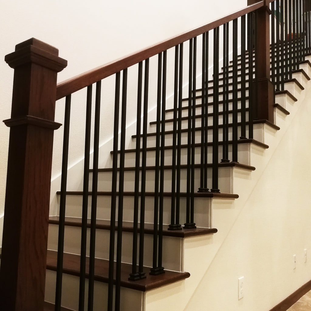 Hollow Stair Plain Square Bar Iron Baluster