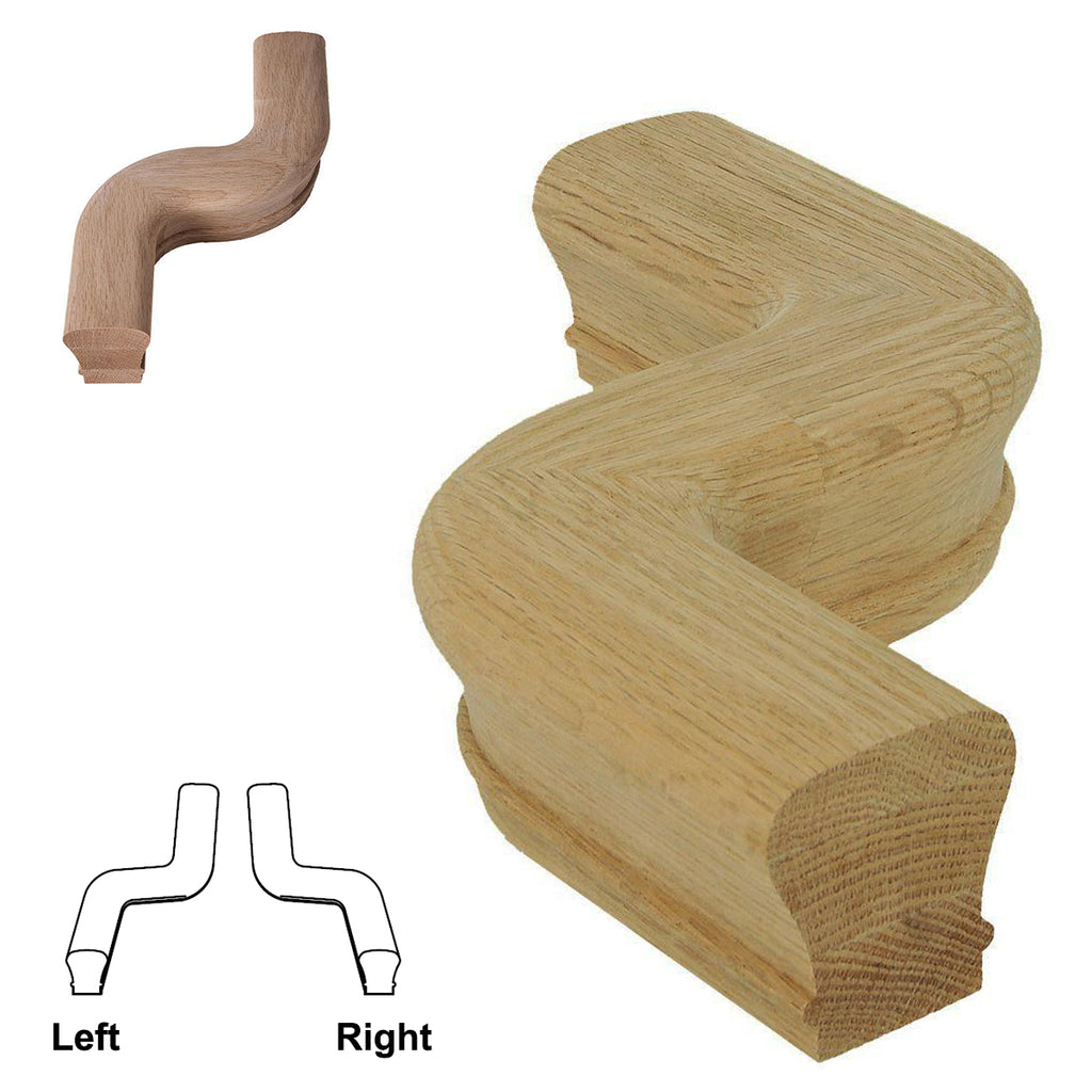 "Stair Left ""S"" Turn Stair Handrail Fitting"
