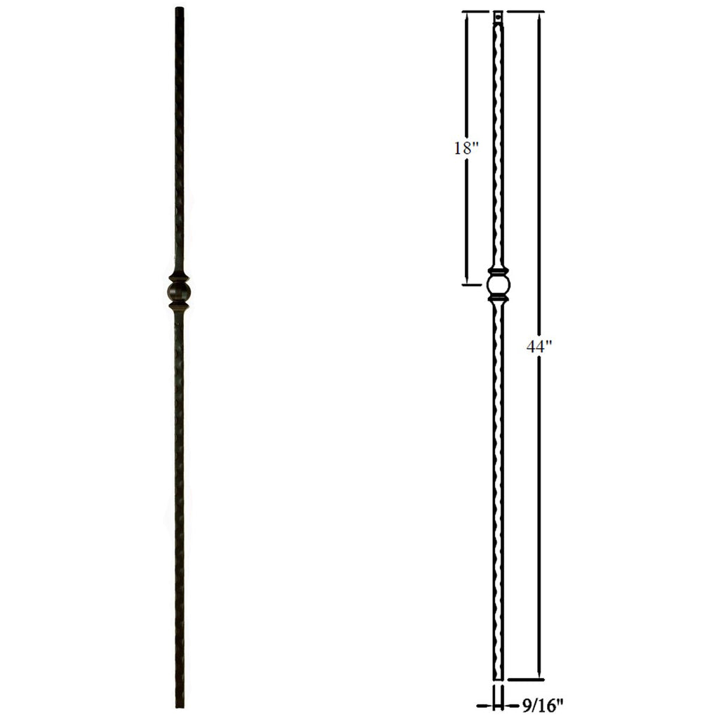 Affordable Single Sphere/Forged Ball Hammered Metal Baluster