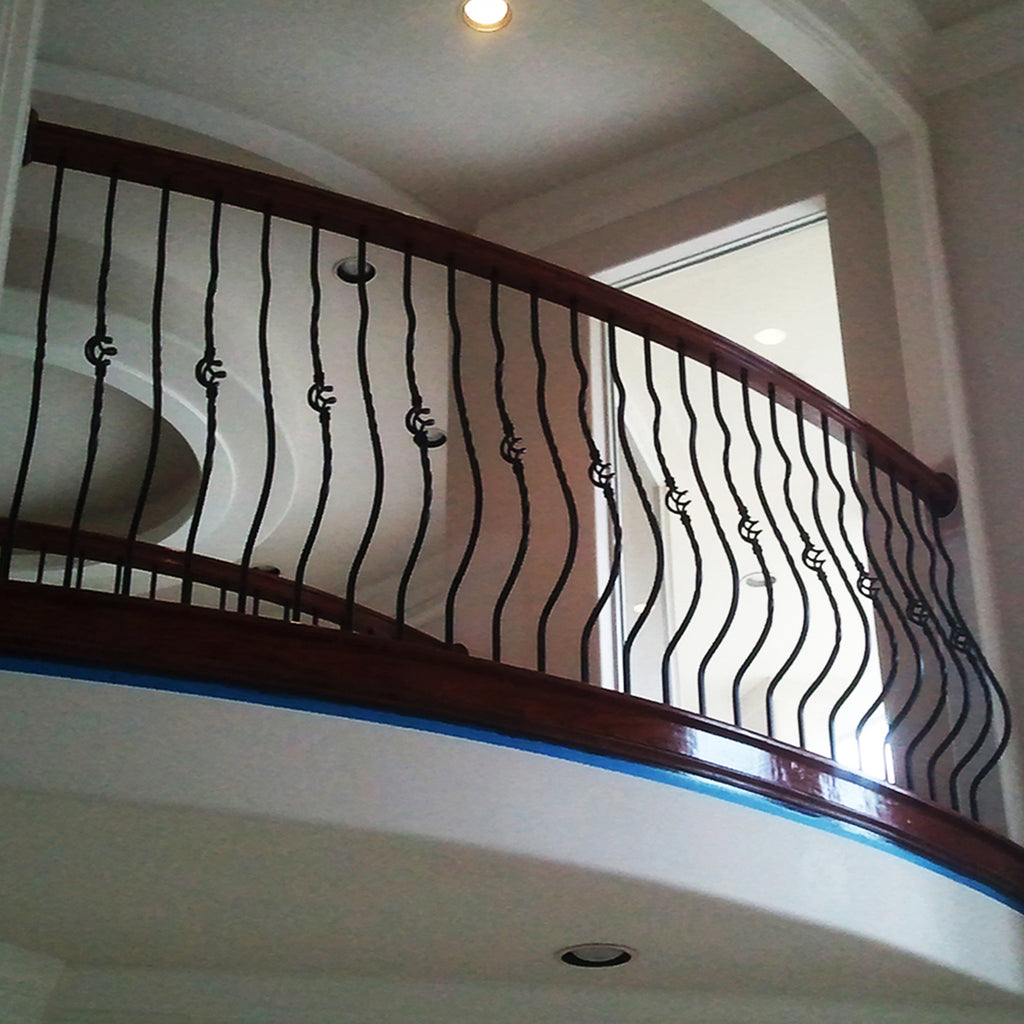 Single Basket Belly Iron Baluster (Satin Black)