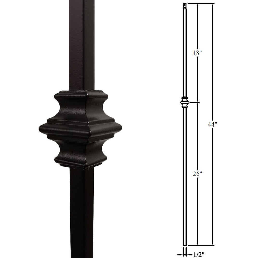 16.1.34 Stair Iron Baluster Single Knuckle
