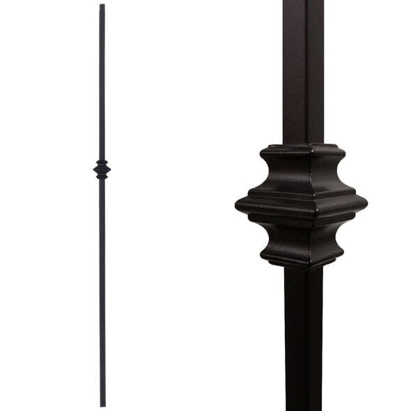 "1/2"" Single Knuckle Stair Wrought Iron Baluster"