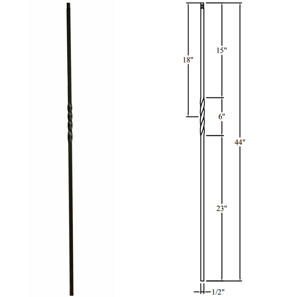 Cheap Single Twist Iron Baluster