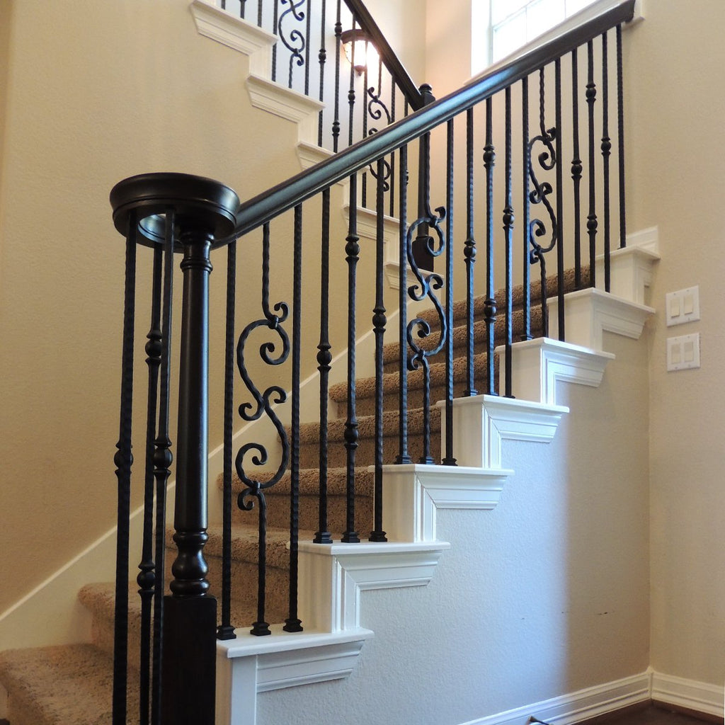 Stair Railing Scroll Iron Baluster