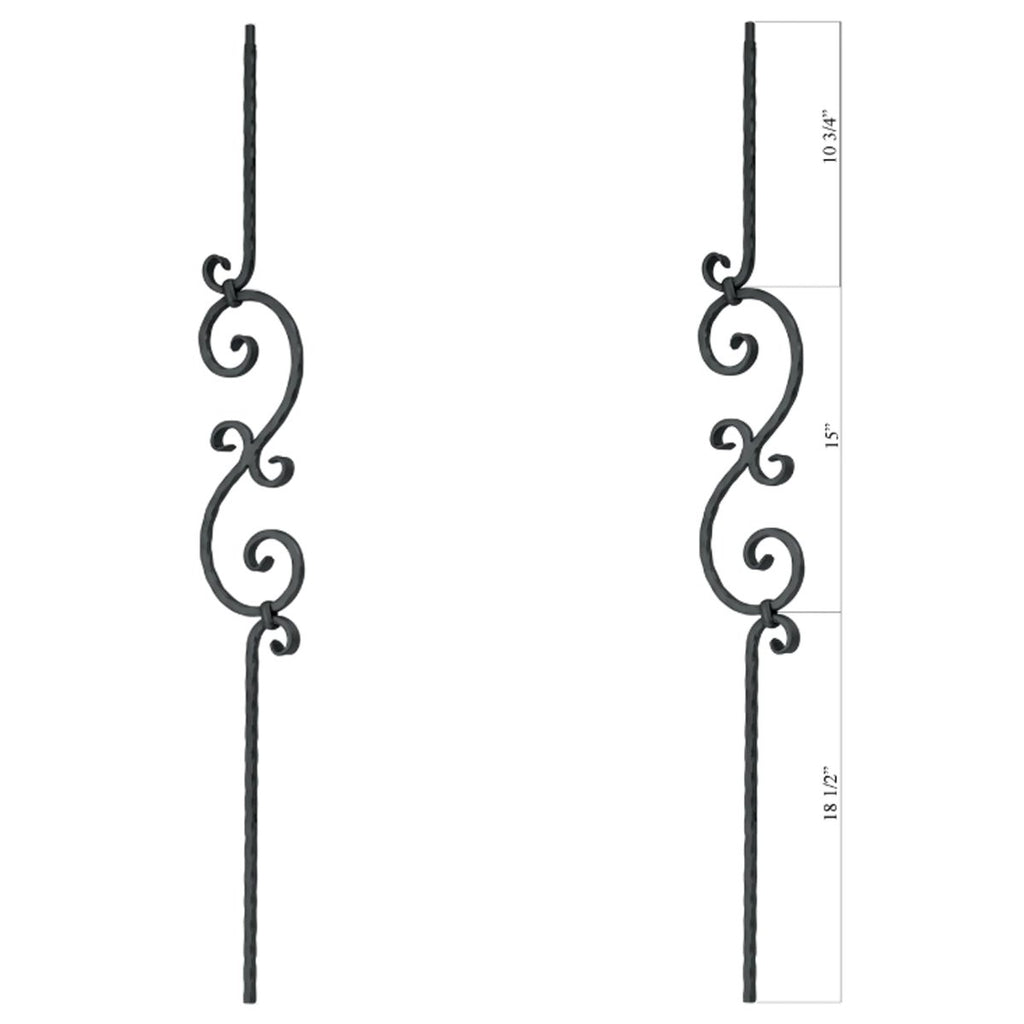 Affordable PC33/1 Scroll Iron Baluster