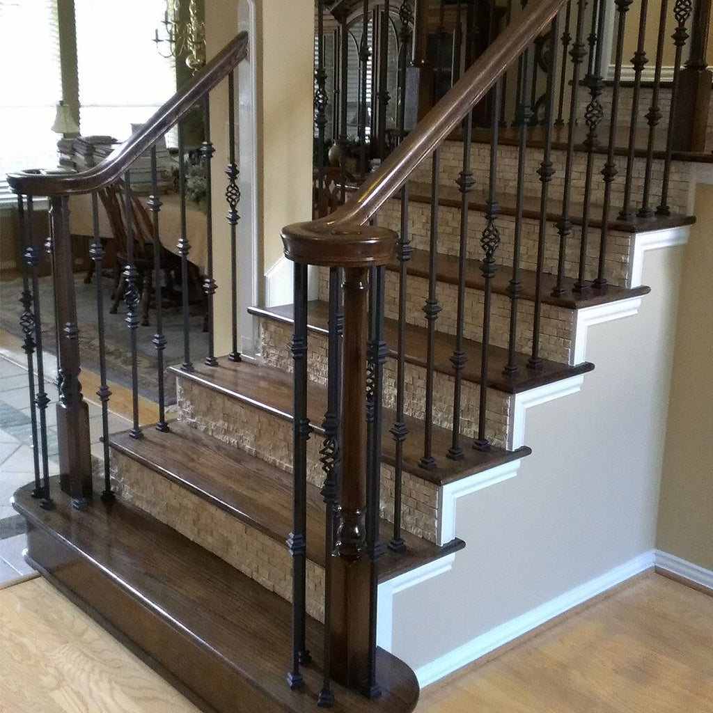 Staircase Single Basket with Knuckles Iron Baluster