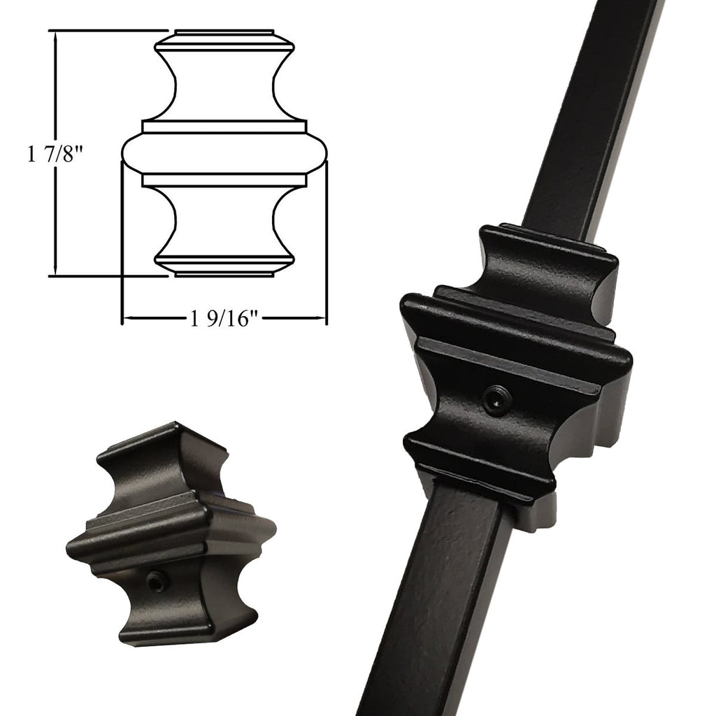 Adjustable Knuckle with Set Screw for Iron Balusters