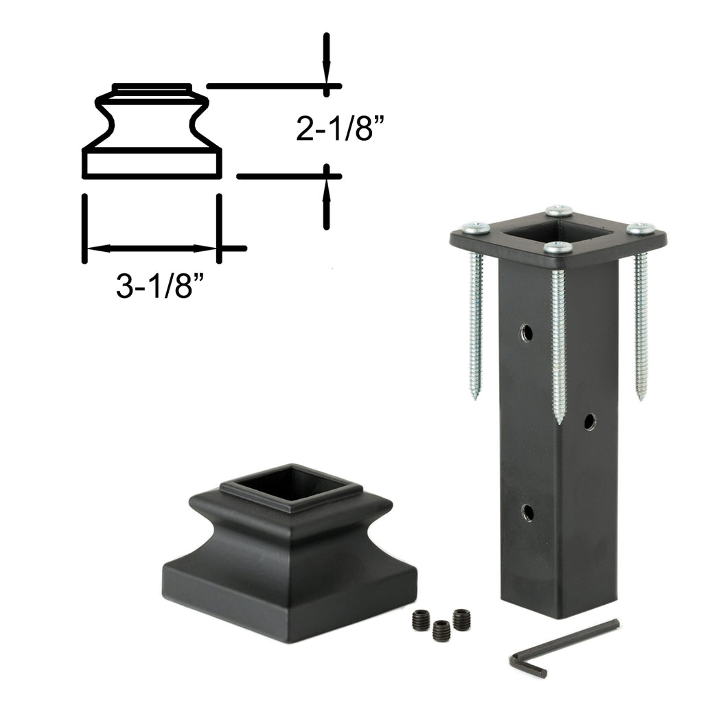 Wrought Iron Newel Post Mounting Kit