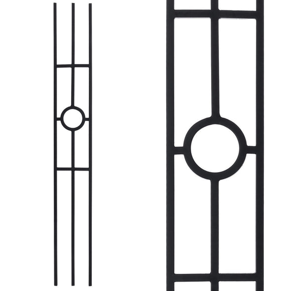 16.1.32 Three Leg Panel Wrought Iron Baluster