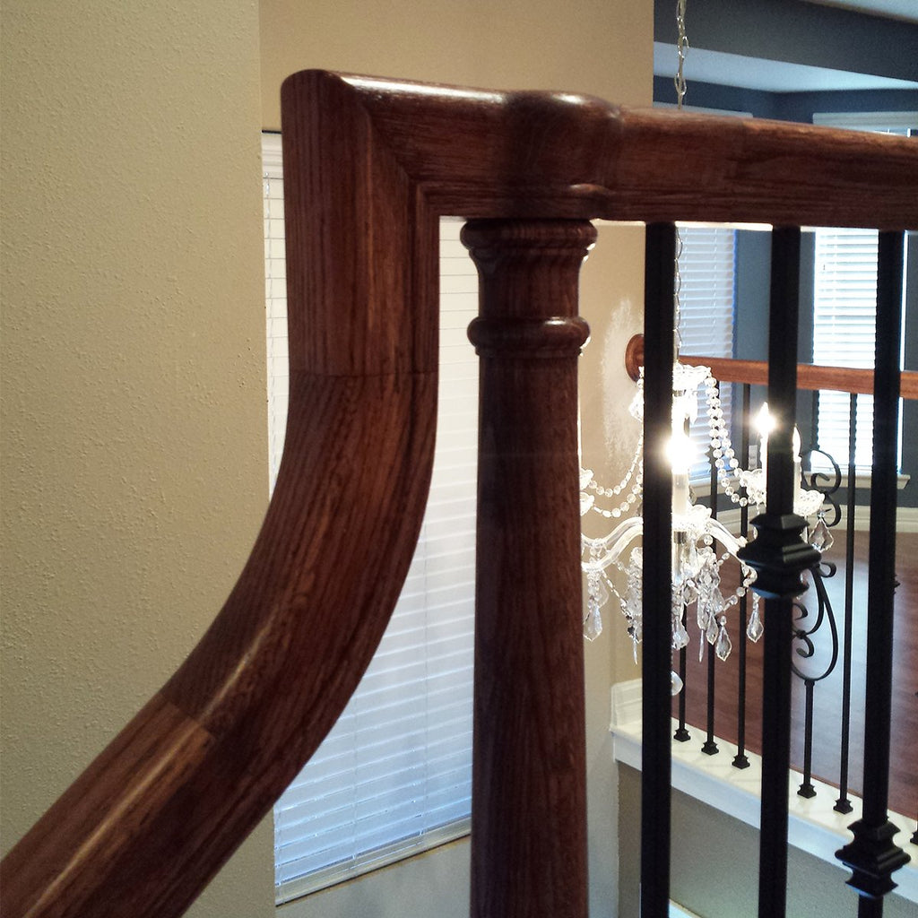 Stair Railing Wood Handrail Fitting Up easing