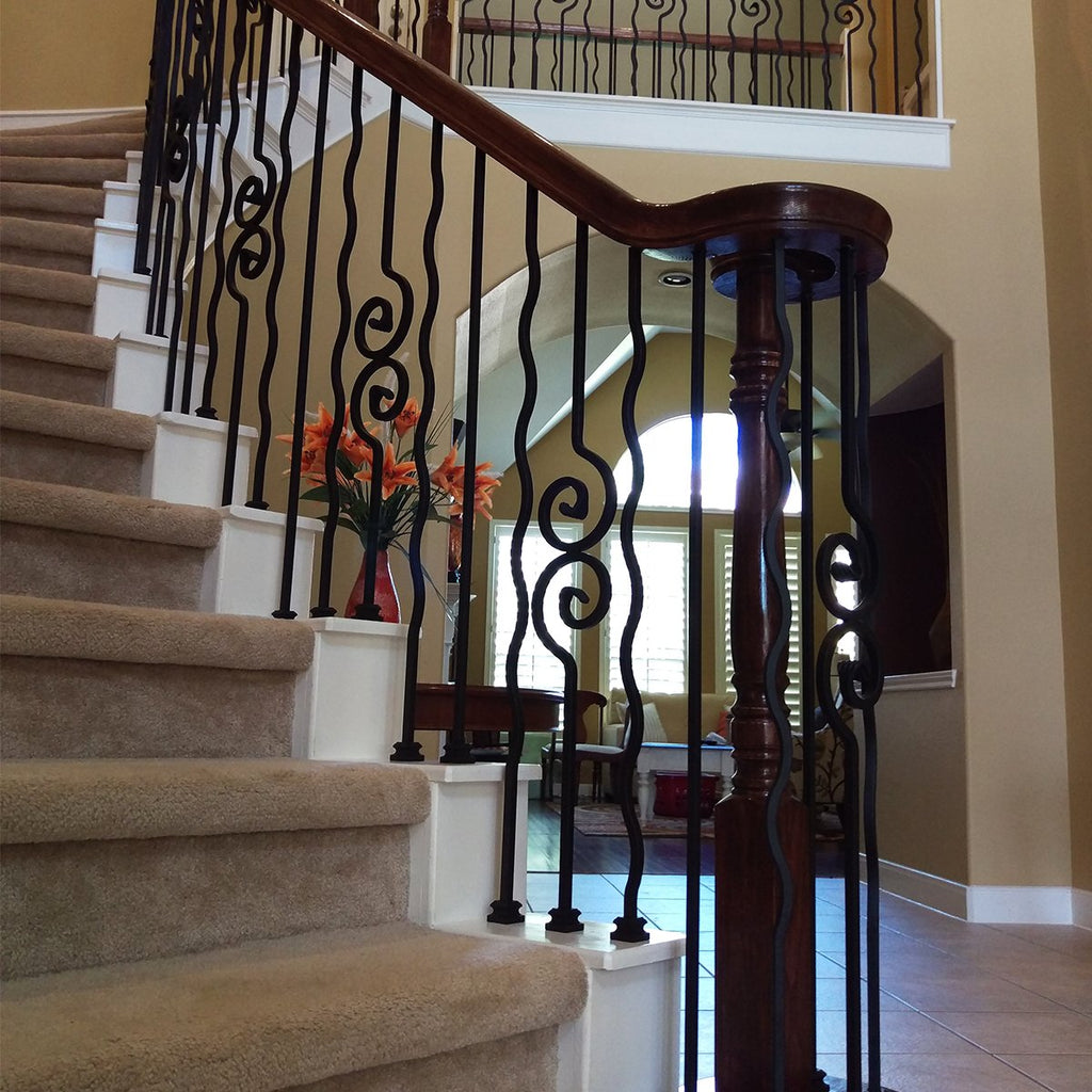 Wavy Bar WroughtStair Iron Baluster